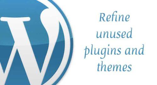 Refine unused plugins & themes